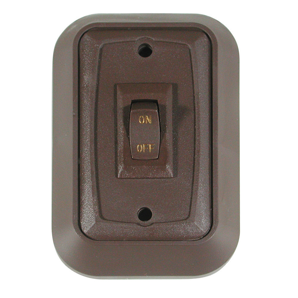 Wall Plate with Switch - Brown/Brown Single