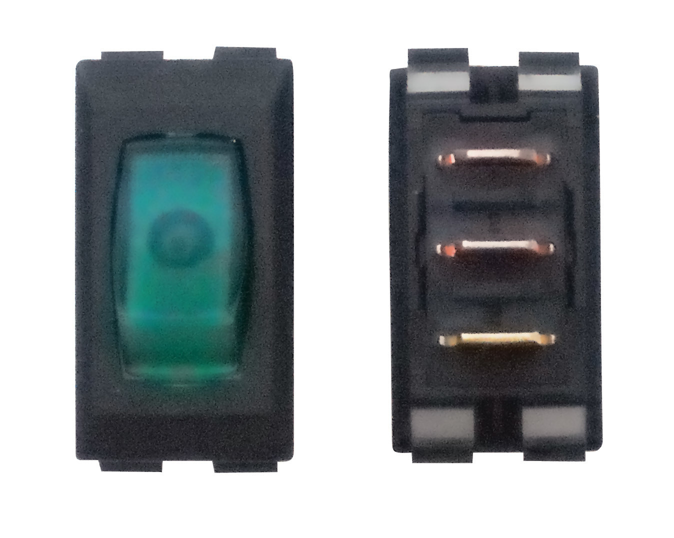Illuminated On/Off Switch - Green/Black 1/card
