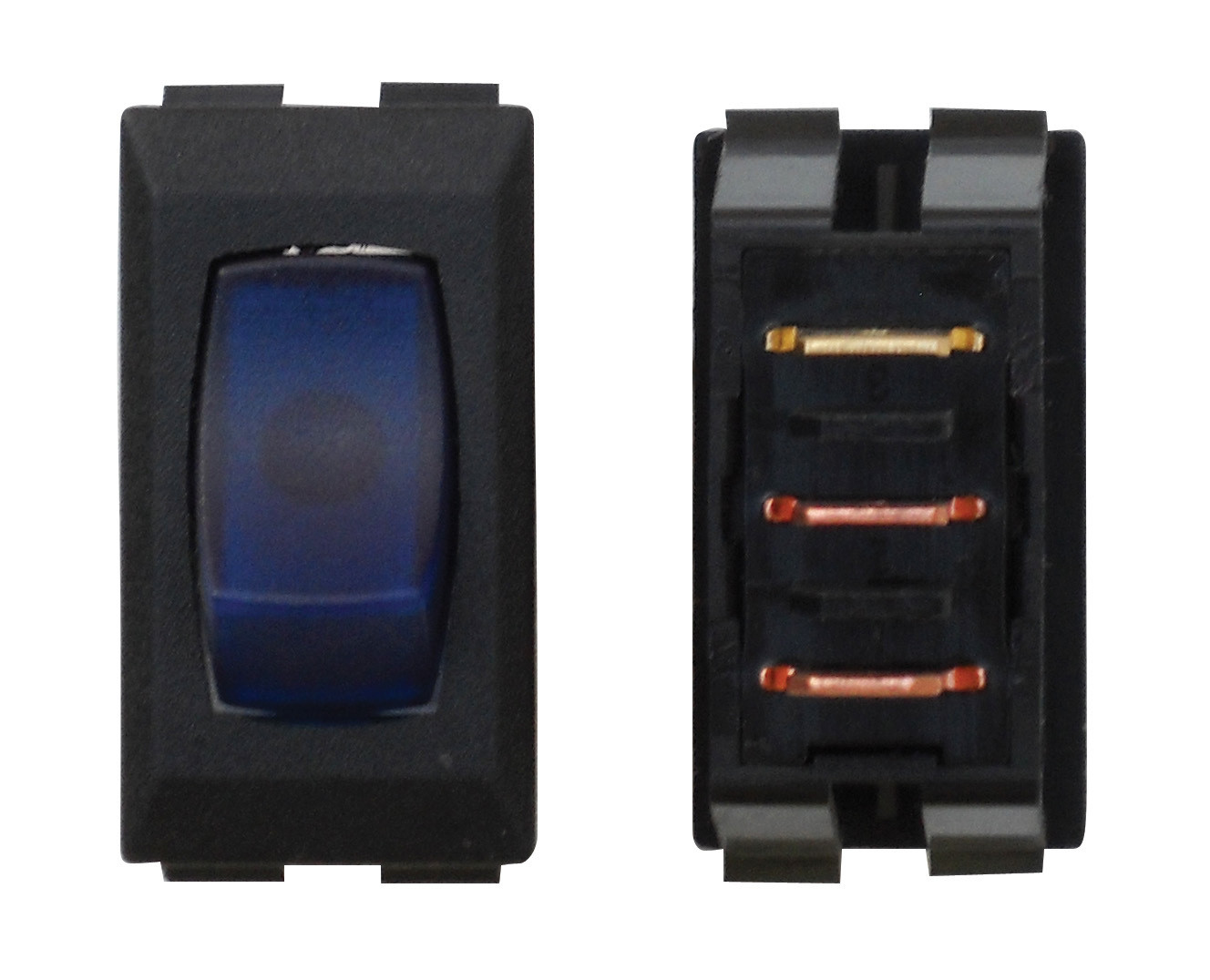 Illuminated On/Off Switch - Blue/Black 1/card