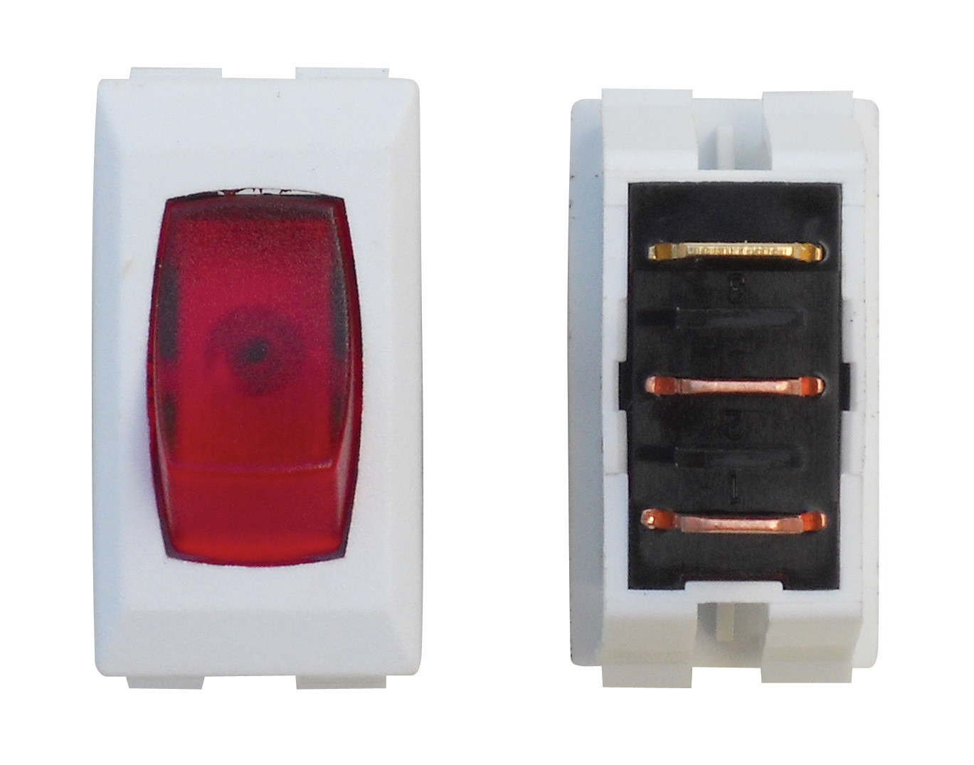 Illuminated On/Off Switch - Red/White 1/card