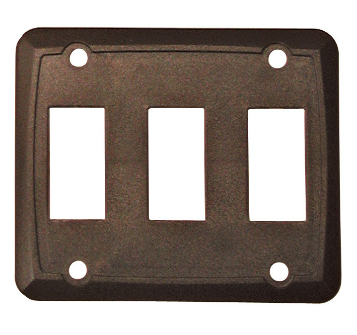 Triple Face Plate - Brown 1/card