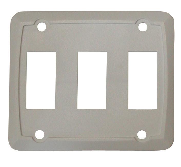 Triple Face Plate - White 1/card