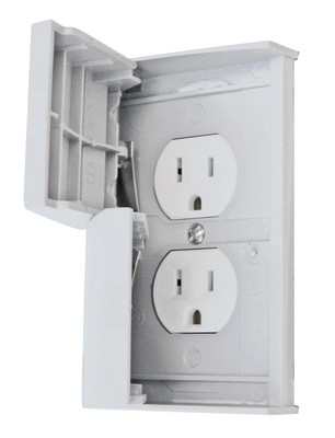 Standard Cover With Receptacle - White