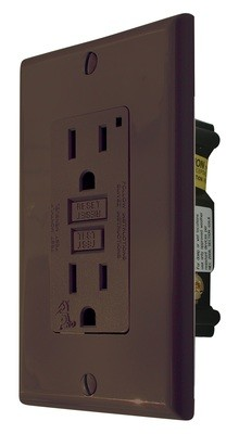 GFI Receptacle - Brown