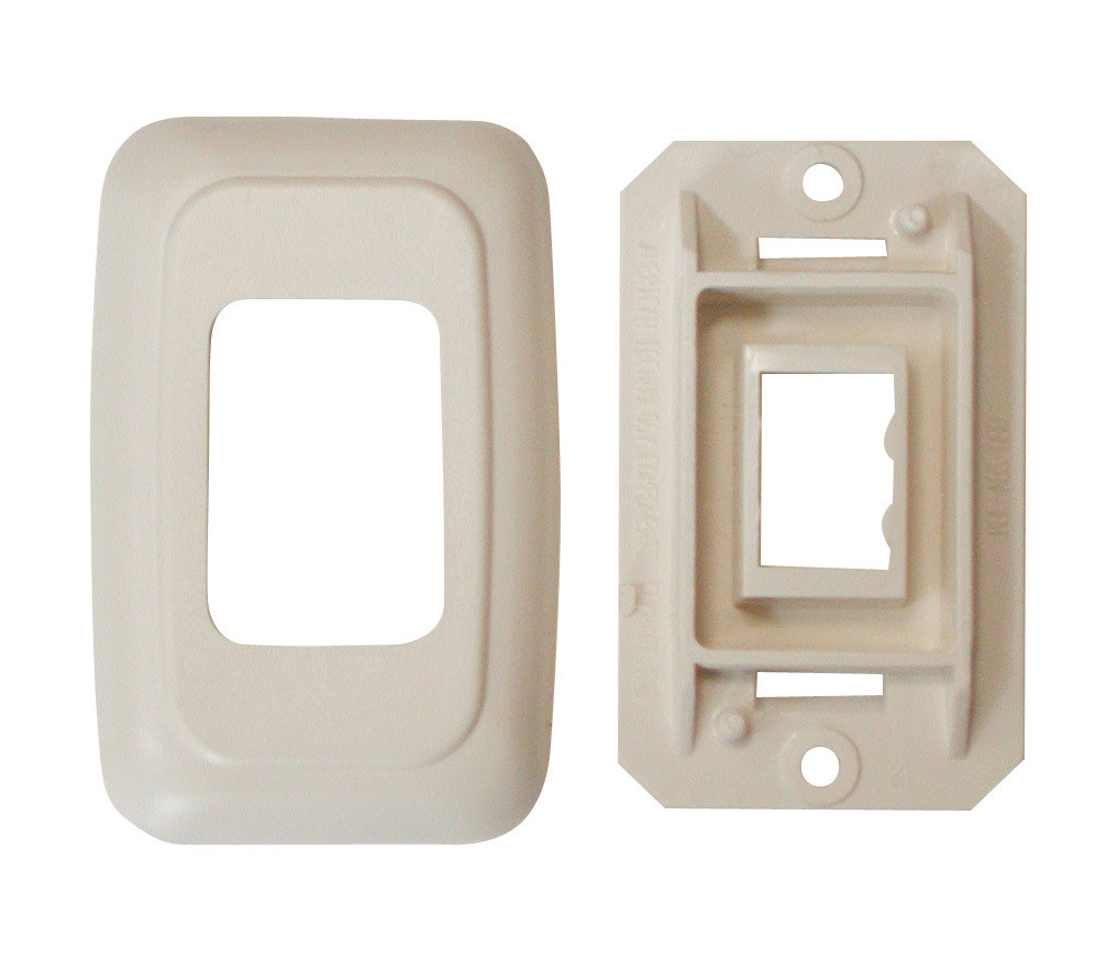 Single Base and Plate Contour Wall Plate Assembly - Ivory
