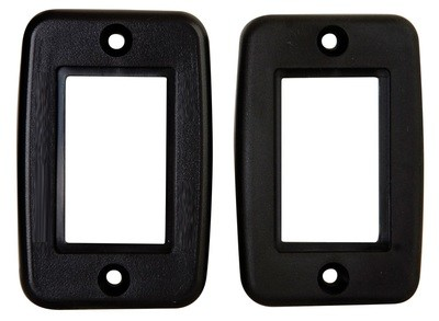 Exposed 5 Pin Side by Side Wall Plate - Black