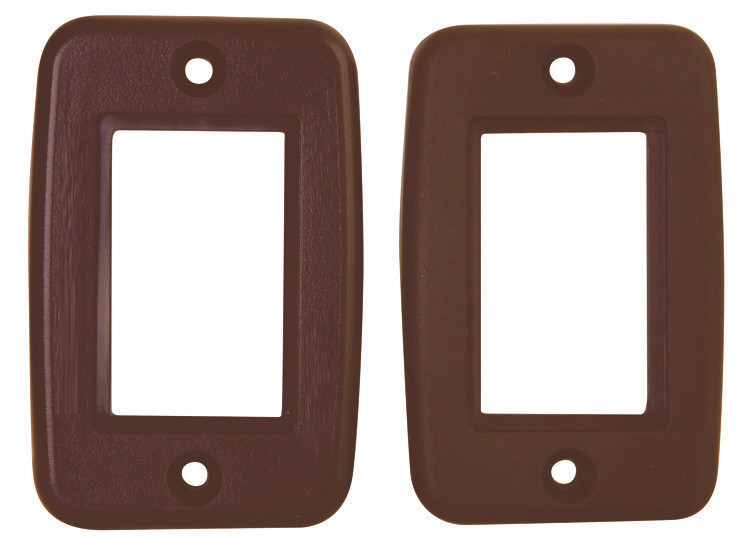 Exposed 5 Pin Side by Side Wall Plate - Brown