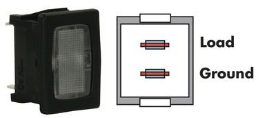 Black, Clear Indicator Lamp