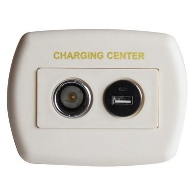 Eurostyle USB Charging Center - Ivory