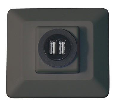 Decor USB Charging Station - Black