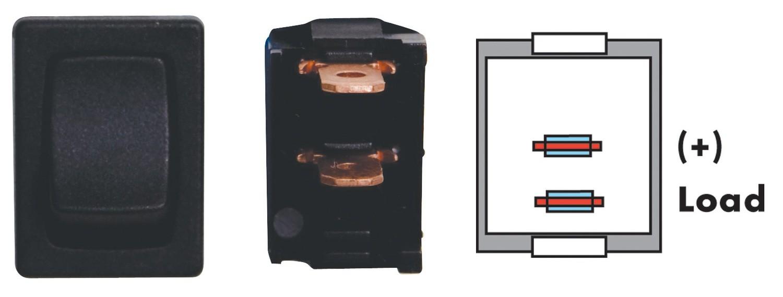 Mini On/Off SPST - Black 3/bag