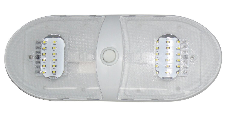 Slim Line Double LED Dome Light