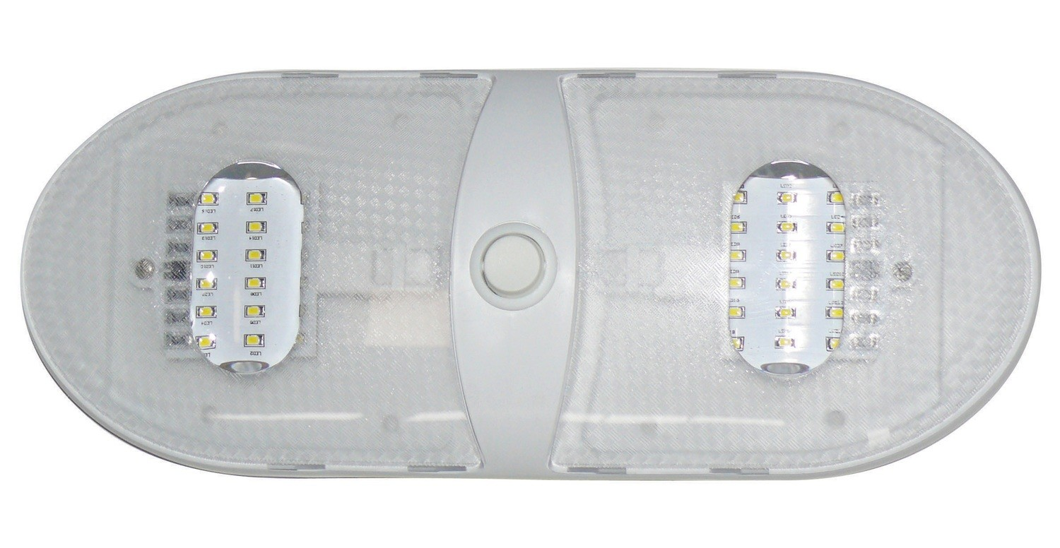Slim Line Double LED Dome Light - Warm White