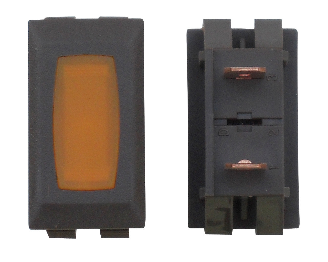 Illuminated Indicator Light - Amber/Brown 1/card