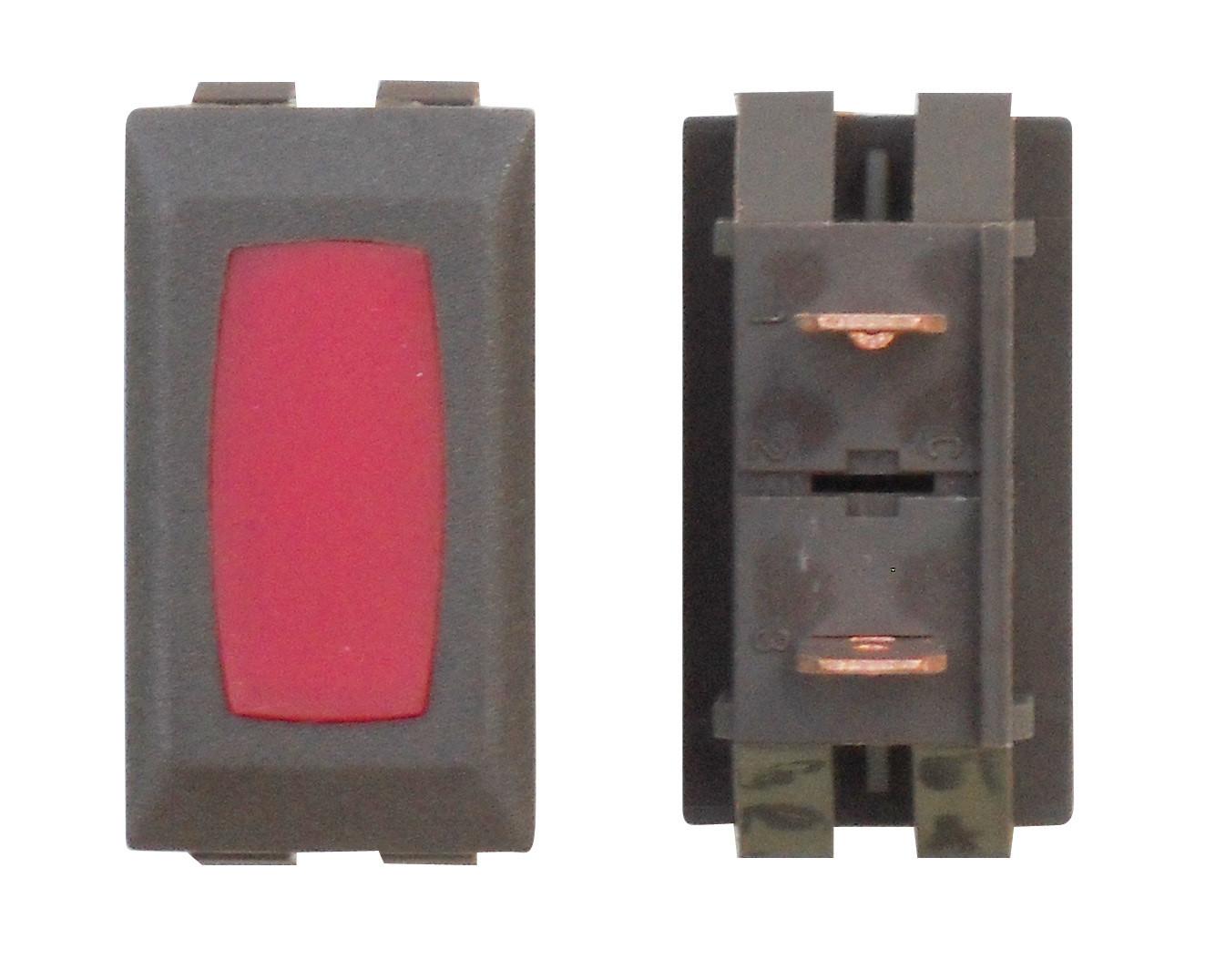 Illuminated Indicator Light - Red/Brown 1/card