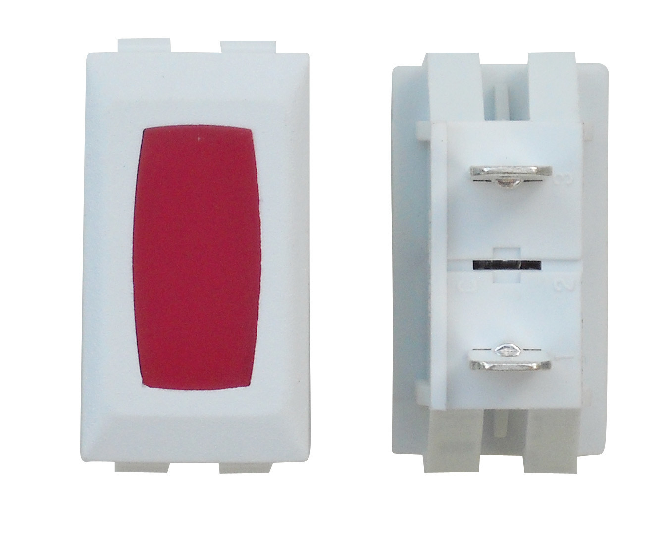 Illuminated Indicator Light - Red/White 1/card