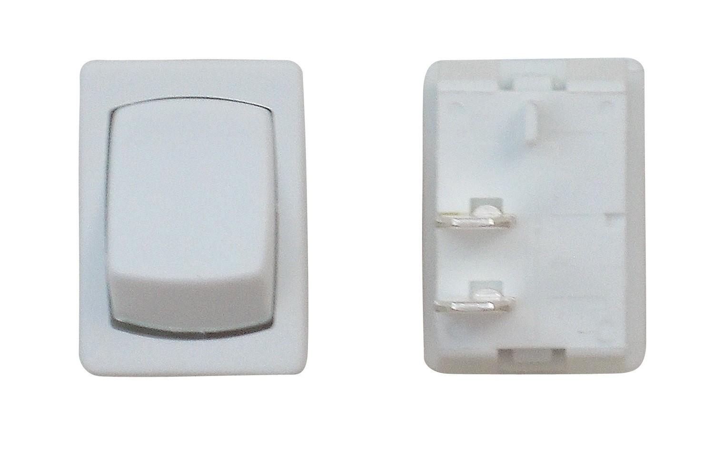 Mini On/Off SPST - White 1/card