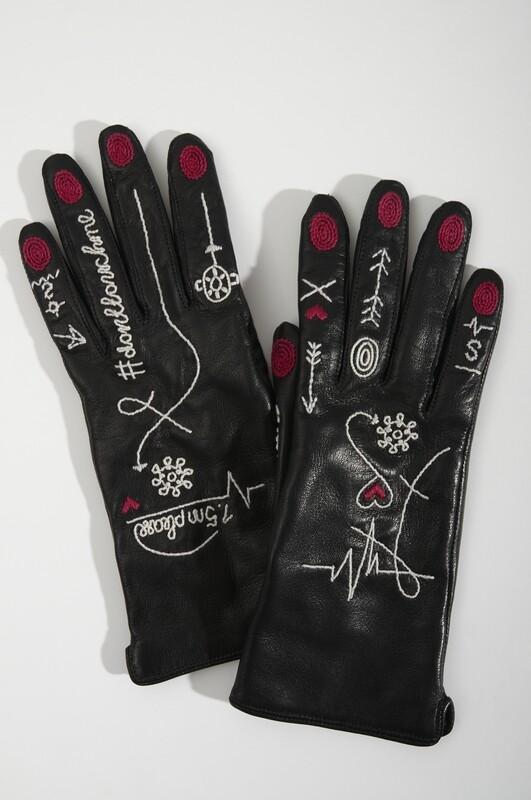Кожаные перчатки Panic Room (демисезонные)