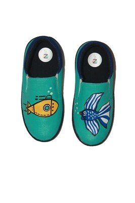 Hand Painted Marine Fish Shoes For Kids