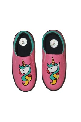 Hand Painted Pink Unicorn Shoes For Kids