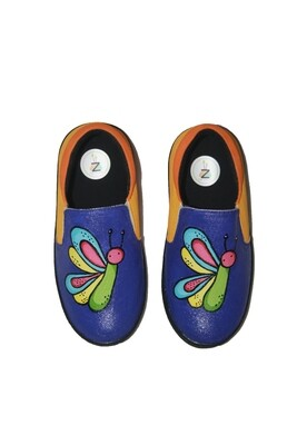 Hand Painted Burger Shoes For Kids