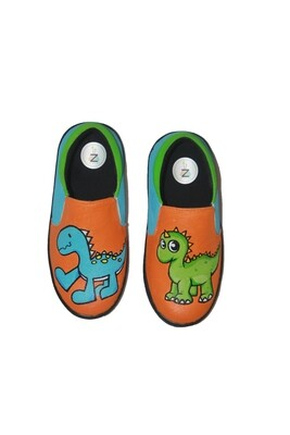 Hand Painted Dinosaur Shoes For Kids