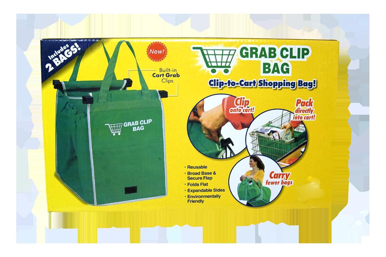 Bolsas Reusables para Compras Grab Clip Bag