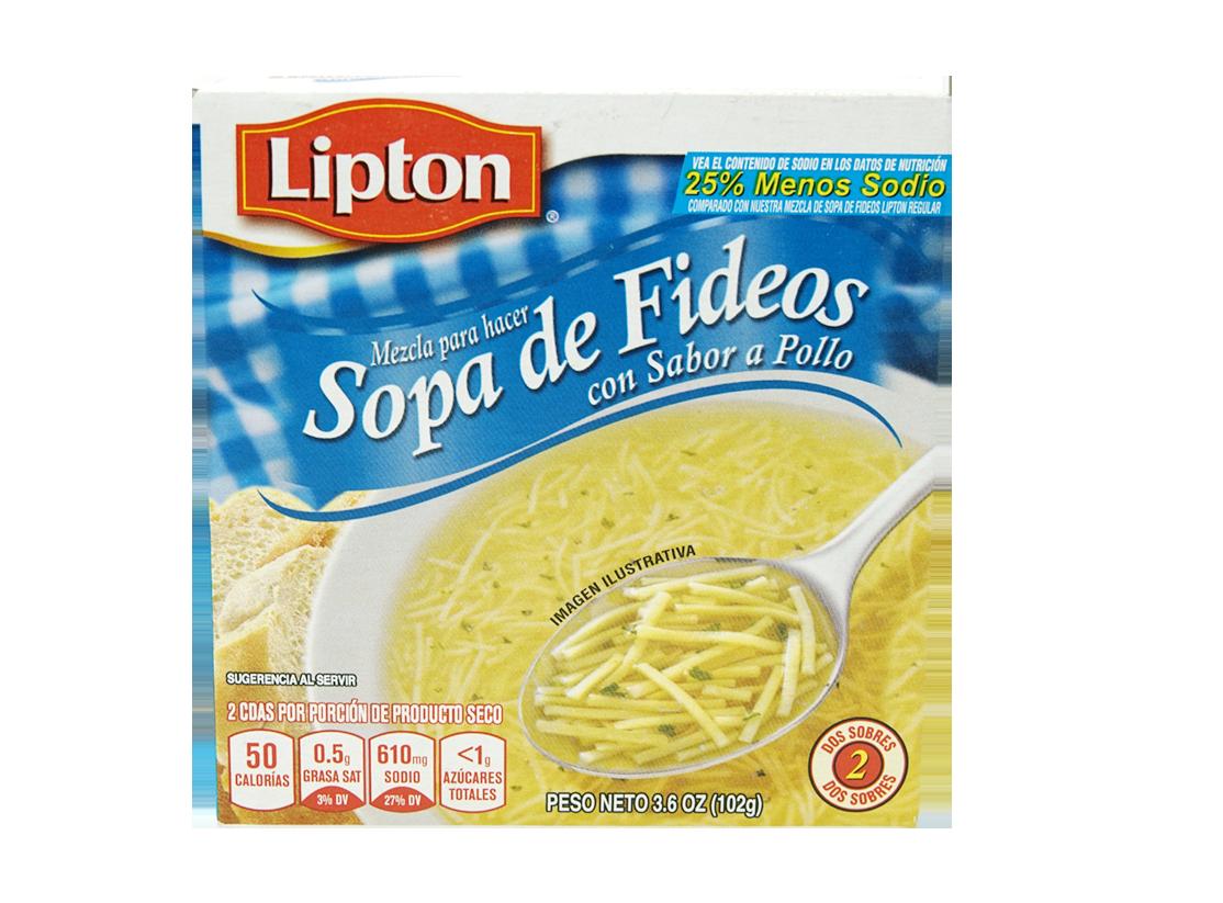 Sopas Lipton De Fideos