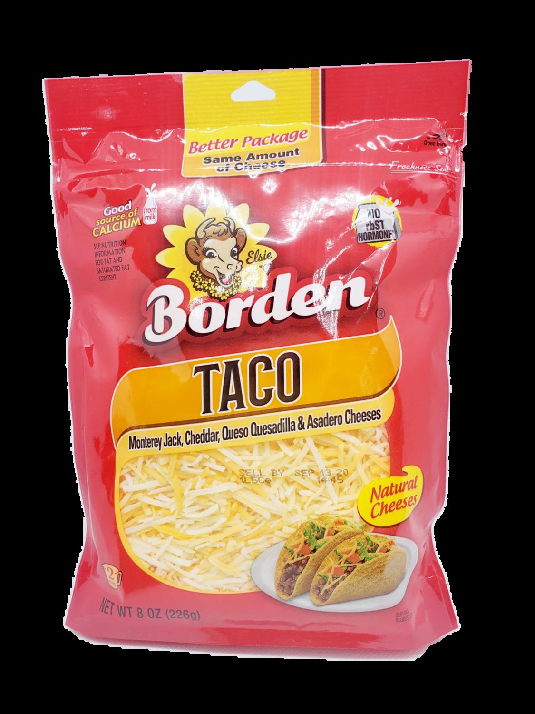 Queso Rallado Borden Taco