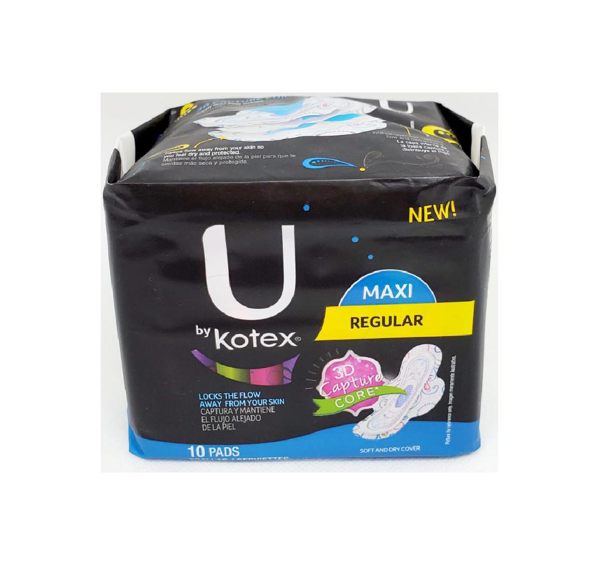Toalla Sanitaria U by Kotex MAXI Regular