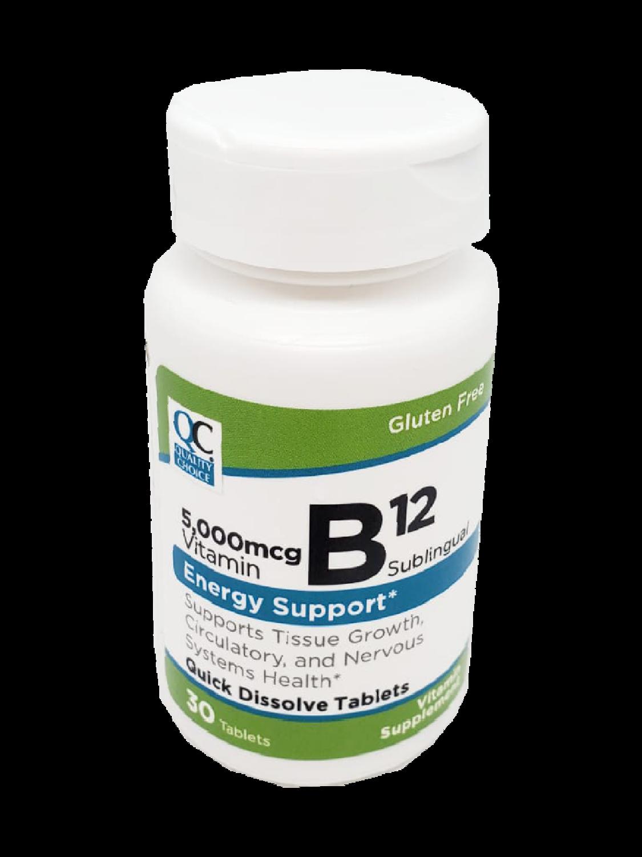 QC Vitamin B12 5,000 mcg SL
