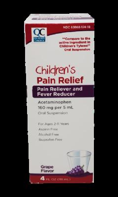 QC Children's Pain Relief Grape