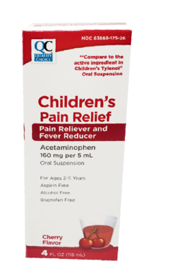 QC Children's Pain Relief Cherry