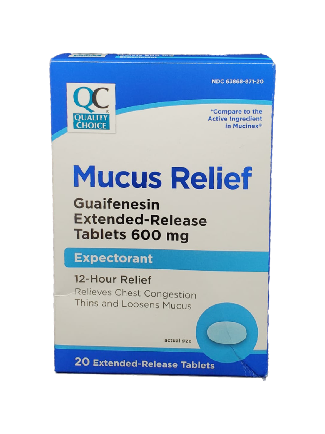 QC Mucus Relief 600mg