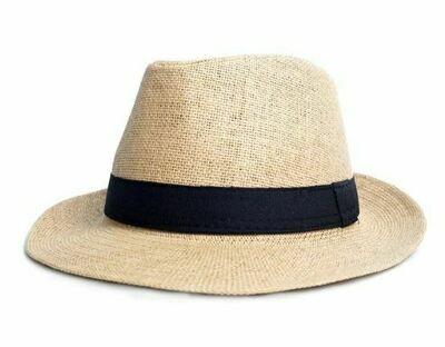 Sombrero Color Natural con Cinta Negra