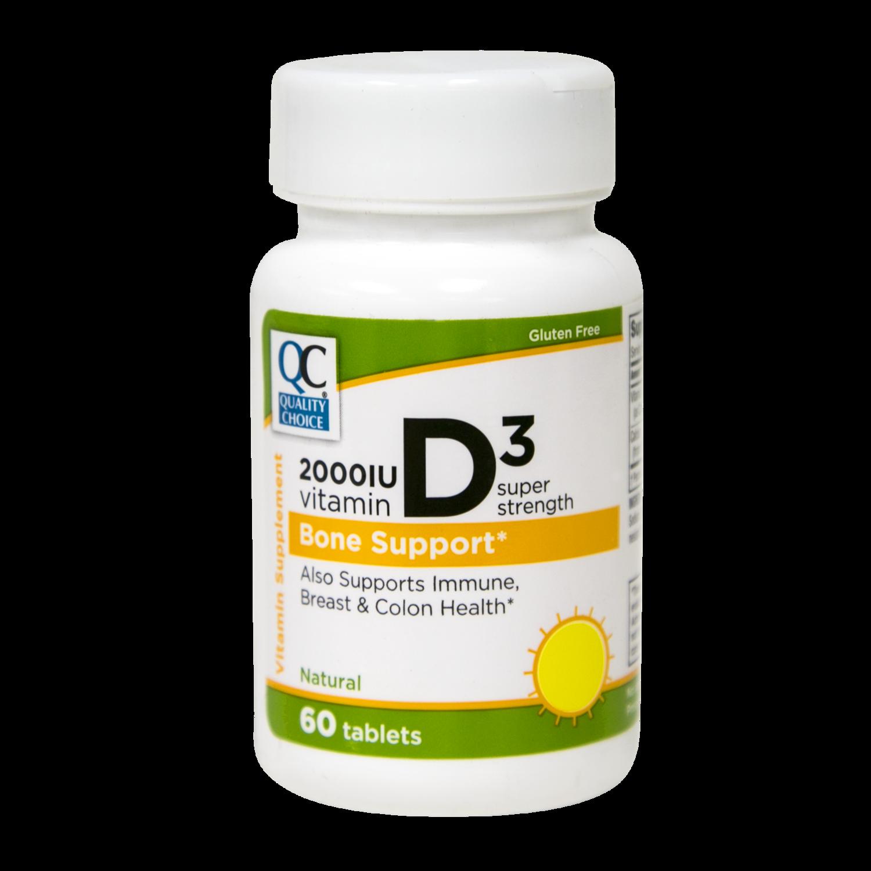 QC Vitamin D3 2,000 UI