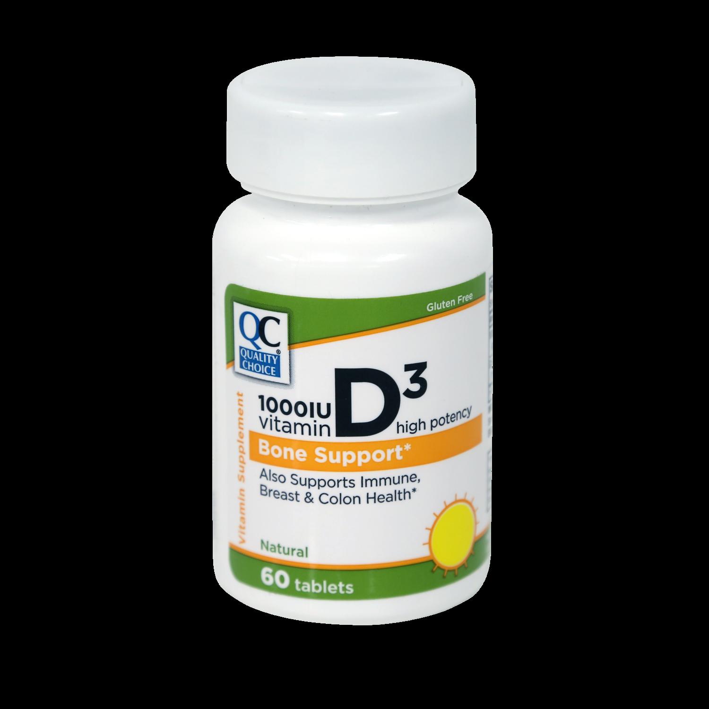 QC Vitamin D3 1,000UI