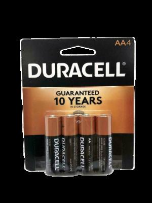 Baterías Duracell AA de 4