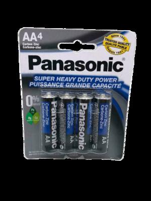 Baterías Panasonic AA de 4