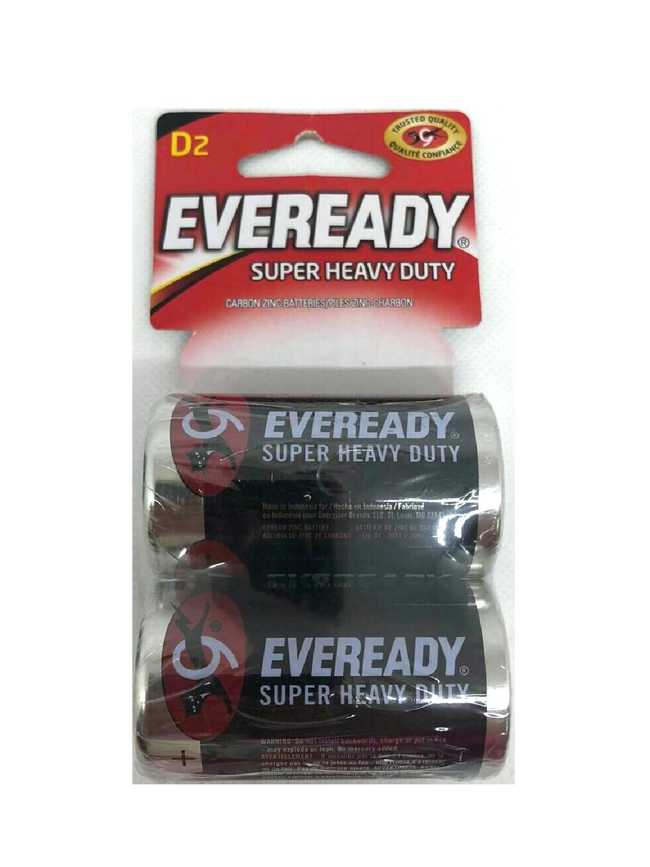 Baterías Eveready D2