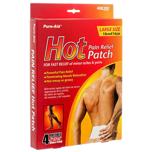 Hot Pain Relief Patch Pure Aid