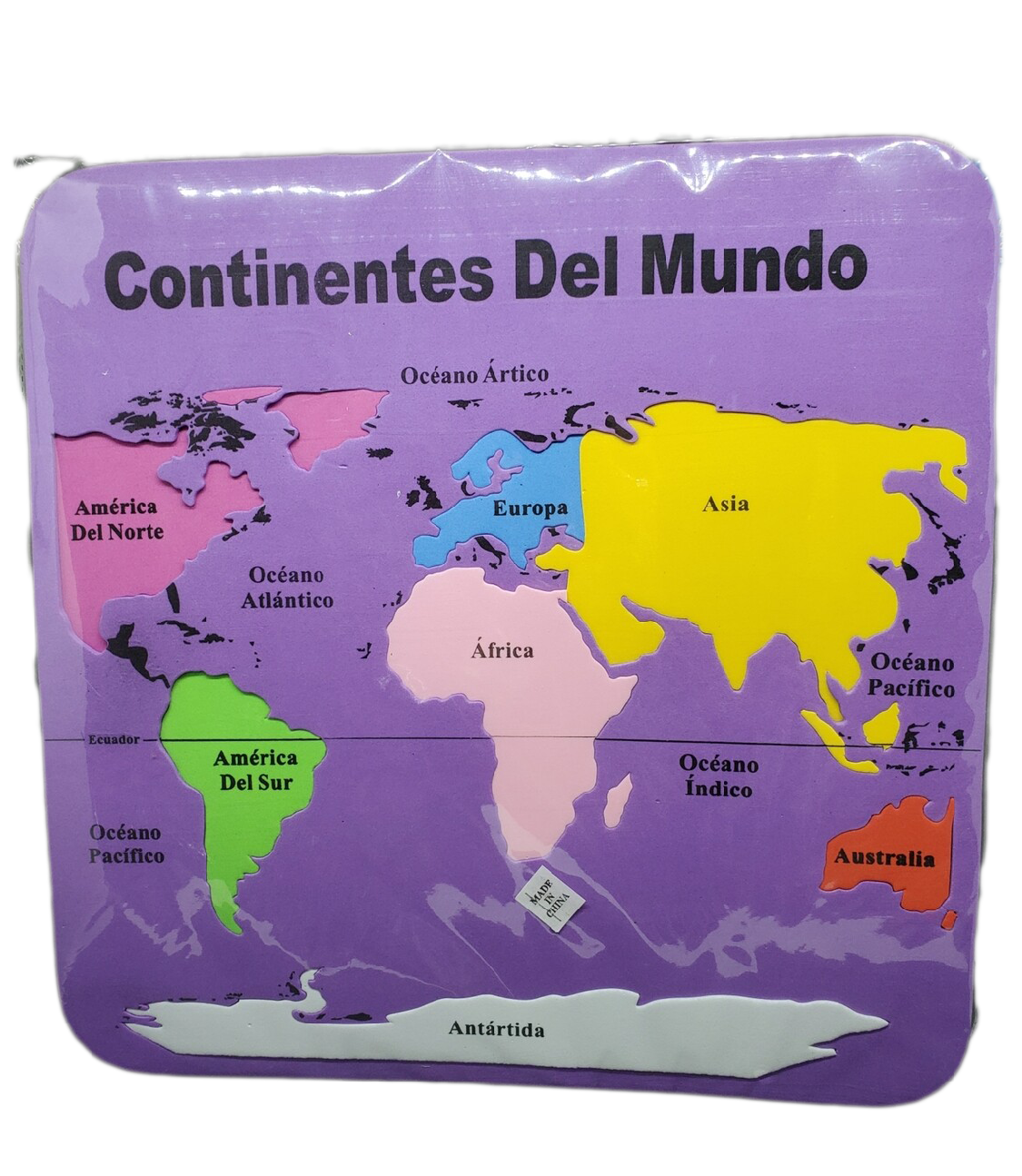 Foamy Rompecabezas Continentes Del Mundo