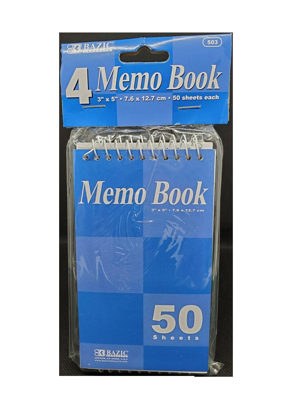 Memo Book Paquete de 4