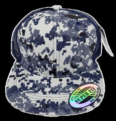 Gorras de Camuflaje Azul/Gris