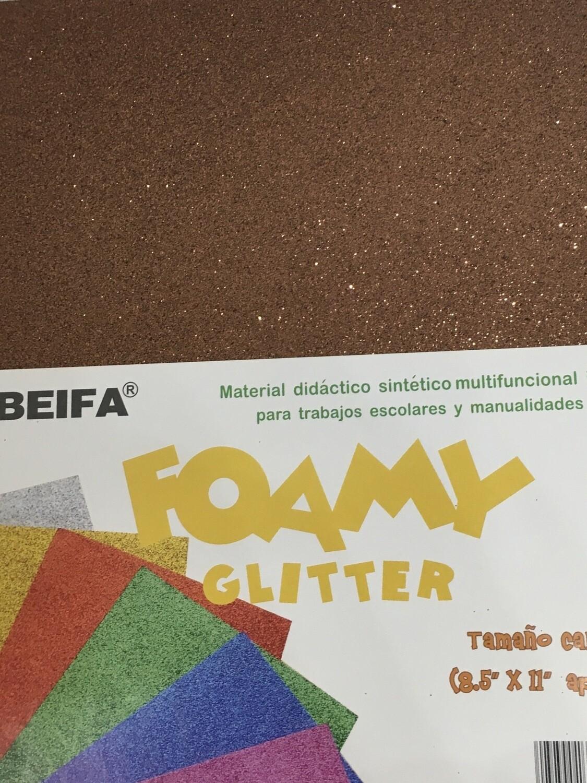 Foamy Glitter Bronce