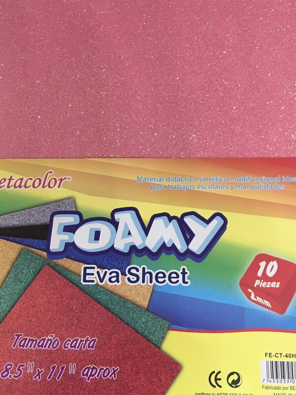 Foamy Glitter Rosa