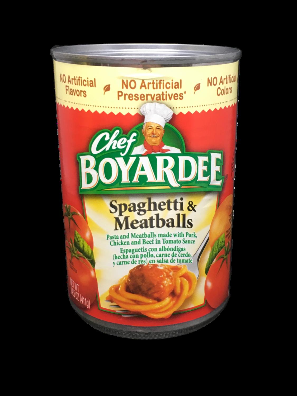 Spaghetti con Albóndigas Chef Boyardee
