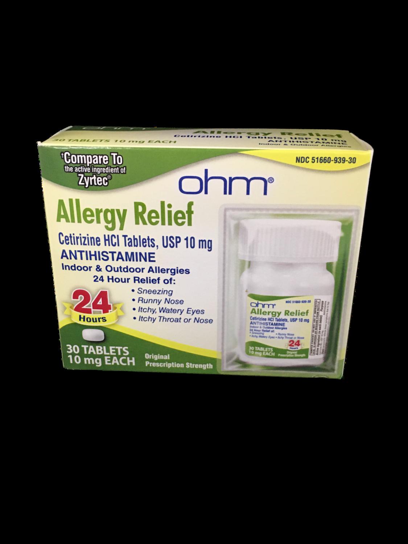 Allergy Relief  Cetirizine