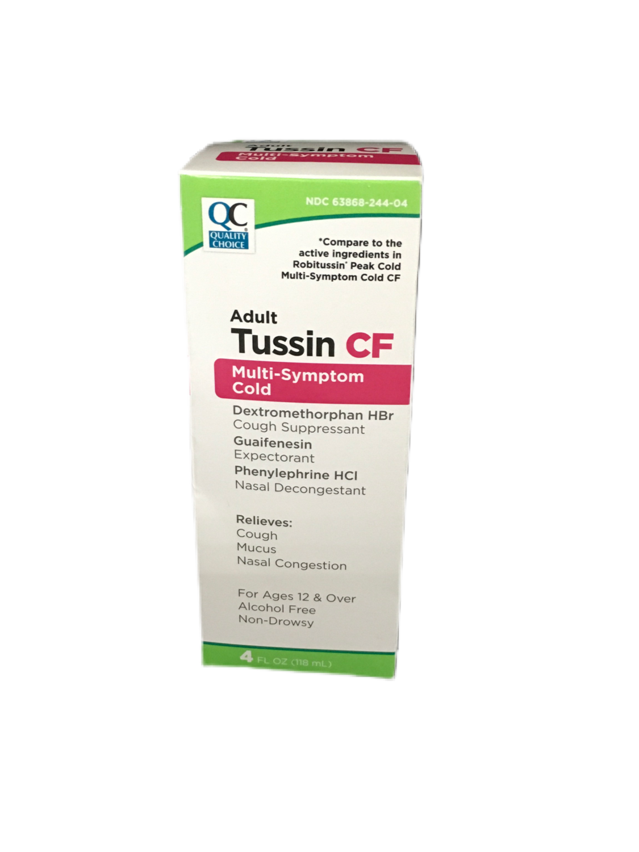QC Tussin CF Adult Multi Symptom Cold