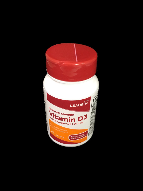 Leader Vitamina D 3 50 mcg